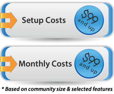 Community Web Site Pricing