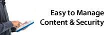 Easy to Manage Content & Security